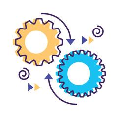 gears machine flat style icon