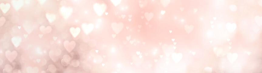 Abstract pastel background with bokeh hearts - concept Mother's Day, Valentine's Day, Birthday , wedding - spring colors  Fotomurales
