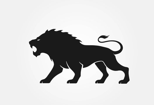 lion logo. courage, valor and strength symbol