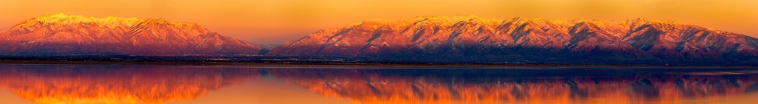 Wasatch Range Sunset from Antelope Island