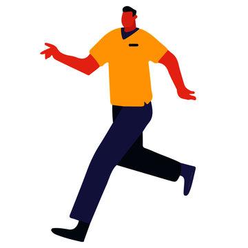 Hombre corriendo vector icon, vector a color, icono a color