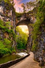Keuken foto achterwand Chocoladebruin natural bridge