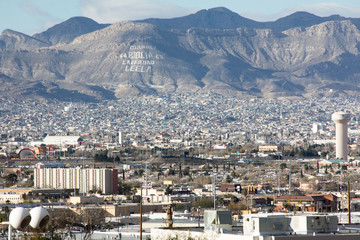 El Paso skyline, with mountain on the Mexican side of the border