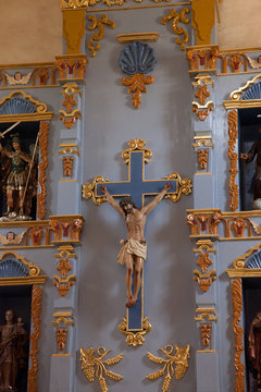 Inside Mission Church in Texas