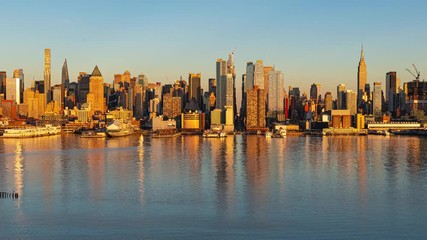 Wall Mural - New York City midtown skyline time lapse