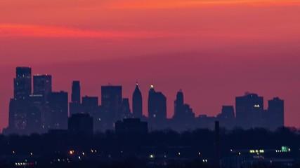 Fototapete - New York City downtown sunrise