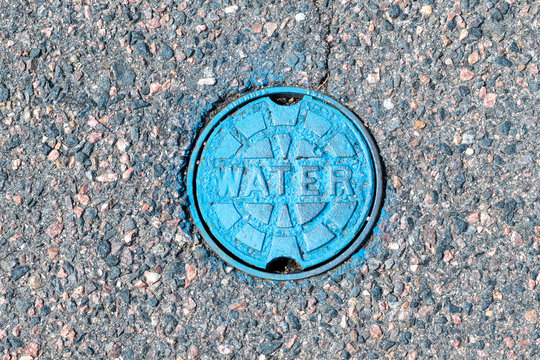 Blue Street Water line cover up close