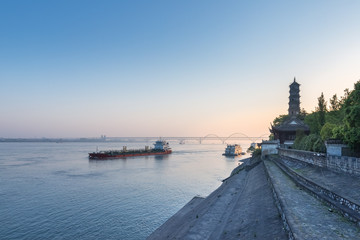 Wall Mural - jiujiang landscape in early morning