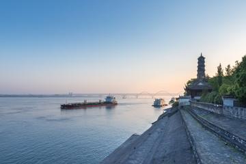 Fotobehang - jiujiang landscape in early morning