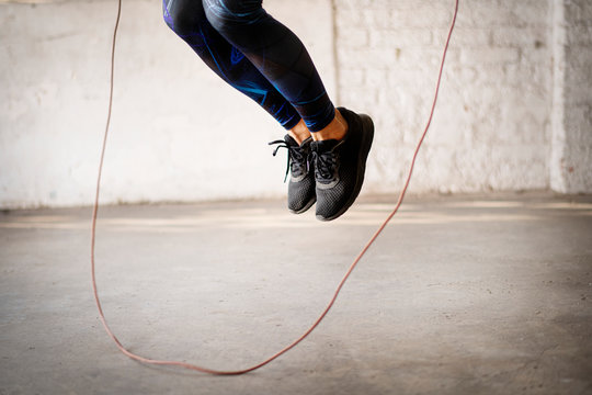 Skipping ropes exercise