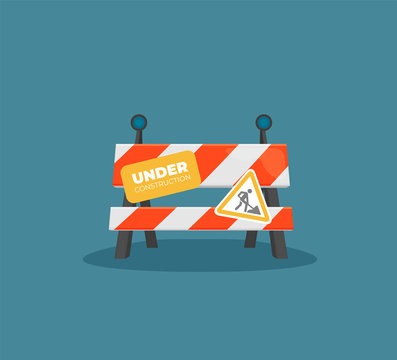 Under construction concept in flat design style, vector illustration