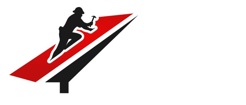 couvreur toiture vecteur logo