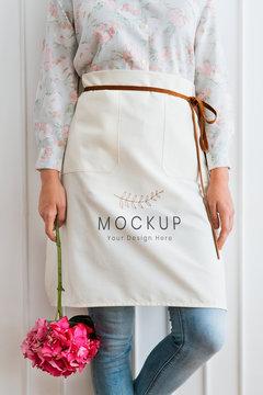 Florist apron mockup