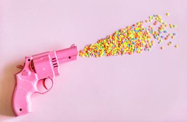 Pink toy gun
