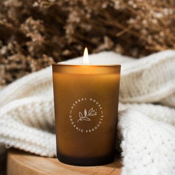 Aroma candle mockup