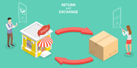 Showing return and exchange actions tips