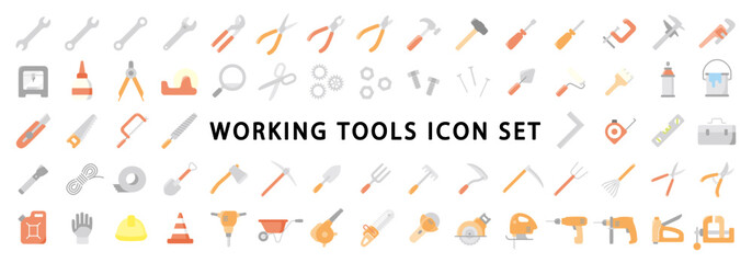 Big Set of Working Tools Icon