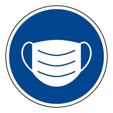 Gesichtsmaske - Gebotsschild (Face mask - mandatory sign)
