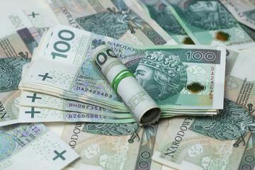 Obraz Polski złoty, złotówka, waluta, pieniądze, gotówka - fototapety do salonu