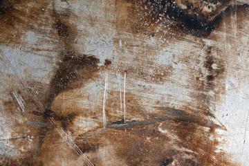 Obraz Fragment starej zarysowanej blachy. - fototapety do salonu