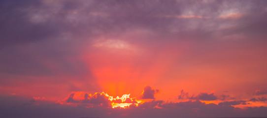 Papiers peints Grenat Amazing sunset