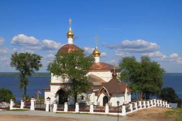 Temple in honor of saints of equal-apostolic kings Constantine and Elena. Sviyazhsk, Tatarstan, Russia