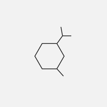 amino acid carbon chain vector icon organic chemistry icon