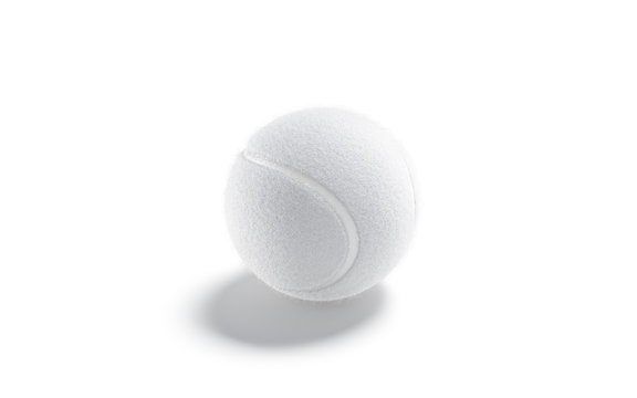 Blank white tennis ball mock up, side view