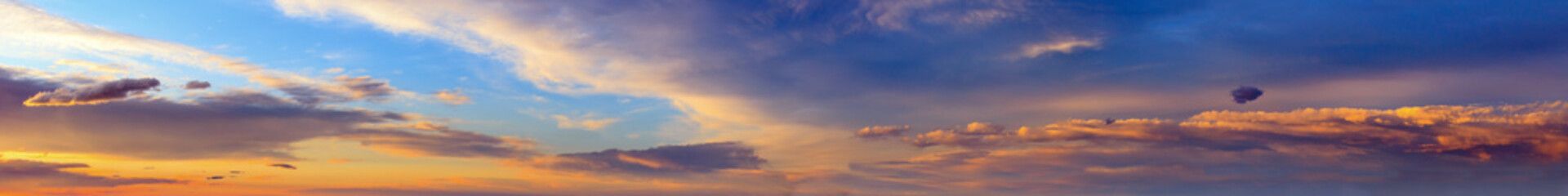 Wall Mural - Sunset sky panorama with clouds