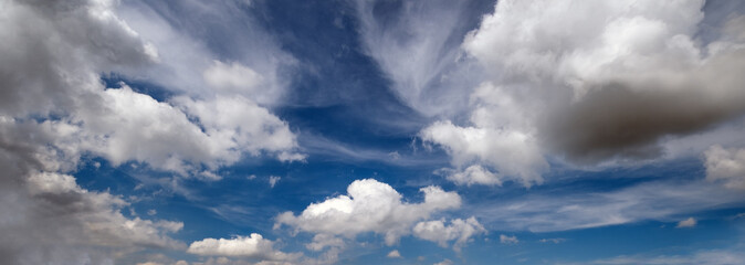 Wall Mural - Blue sky background with clouds