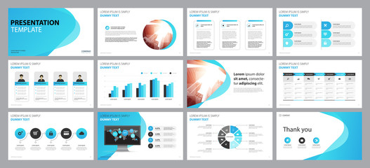 business presentation backgrounds design template and page layout design for brochure ,book , magazine, annual report and company profile , with info graphic elements graph design concept Wall mural