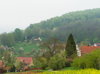 Fotoväggar - village in the mountains
