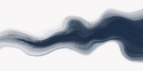 Abstract watercolor paint background dark blue color grunge texture with fluid wavy flowing shape for background, banner