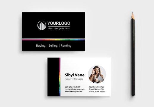 Realtor Business Card Layout