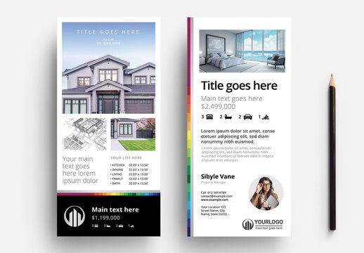 Real Estate Property Rack Card Layout