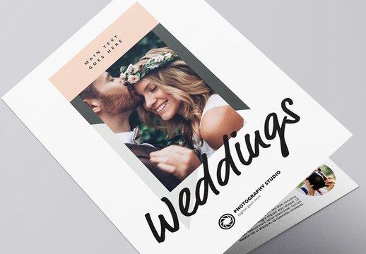 Stylish Photographer Bi-Fold Brochure Layout