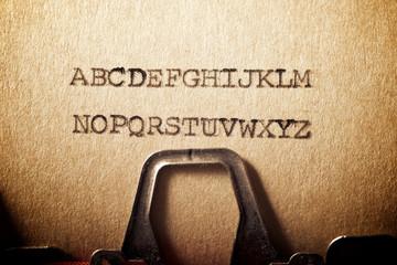 Alphabet concept view Fotoväggar