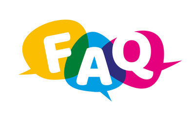 FAQ Bubble Vector Illustration Frequently Asked Questions