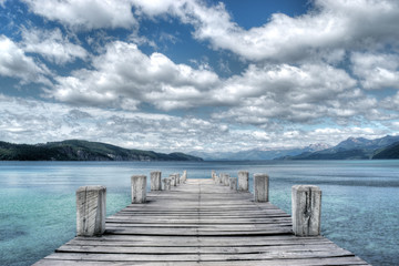 Panoramic view from the pier towards