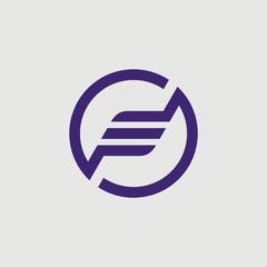 iniitial f logo