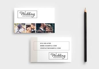 Wedding Photographer Business Card Layout