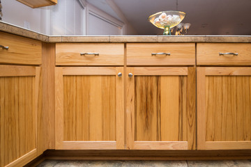 Maple wooden cabinets