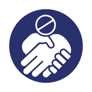 handshake denied signal fill style icon