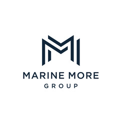 Letter M logo MM design. Line creative minimal monochrome monogram symbol. Premium business logotype.