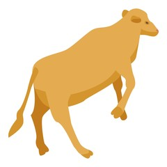 Farm cow icon. Isometric of farm cow vector icon for web design isolated on white background