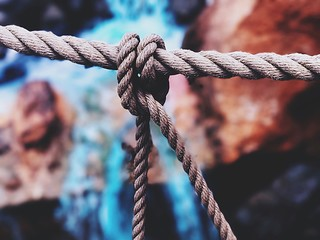 Close-up Of Tied Up Rope