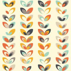Midcentury geometric retro pattern, vintage colors