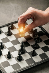 strategy game chessboard play competition practice for manager and everyone
