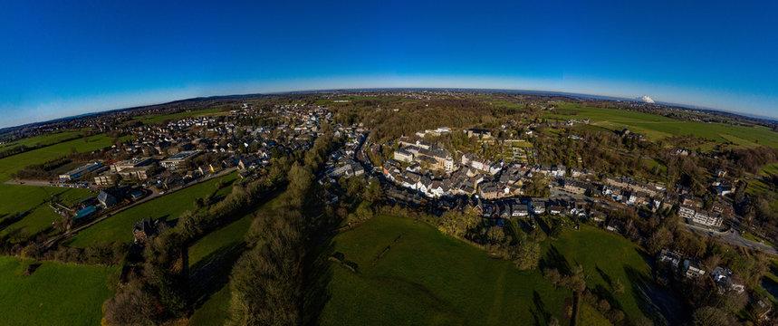 Kornelimünster Aachen Eifel Knolle Panorama Luftbild Luftaufnahme