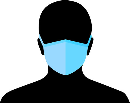 Face protection mask: Please cover your mouth and nose! vector illustration